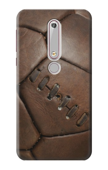 Printed Vintage Genuine Leather Soccer Football Nokia 6 (2018) Case