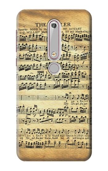 Printed The Fowler Mozart Music Sheet Nokia 6 (2018) Case