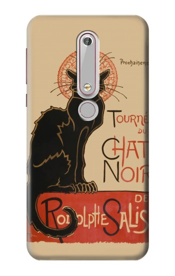 Printed Chat Noir The Black Cat Nokia 6 (2018) Case