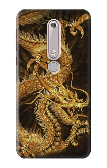 Printed Chinese Gold Dragon Printed Nokia 6 (2018) Case