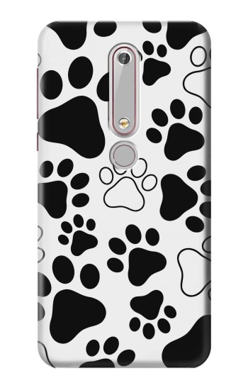 Printed Dog Paw Prints Nokia 6 (2018) Case