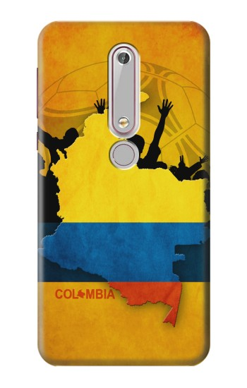 Printed Colombia Football Flag Nokia 6 (2018) Case