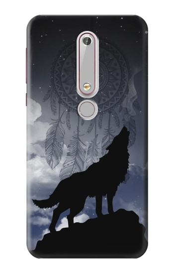 Printed Dream Catcher Wolf Howling Nokia 6 (2018) Case