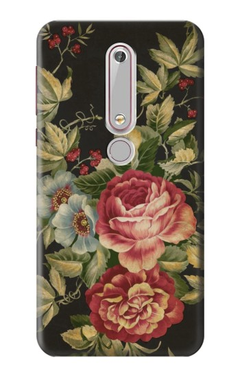 Printed Vintage Antique Roses Nokia 6 (2018) Case