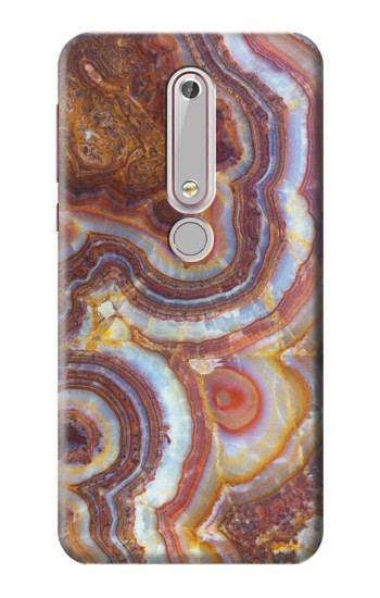 Printed Colored Marble Texture Printed Nokia 6 (2018) Case