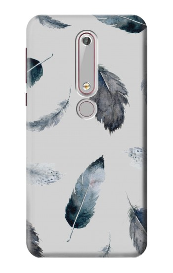 Printed Feather Paint Pattern Nokia 6 (2018) Case
