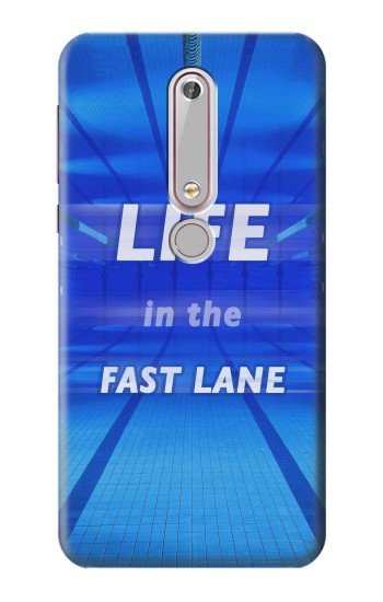 Printed Life in the Fast Lane Swimming Pool Nokia 6 (2018) Case