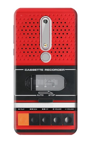 Printed Red Cassette Recorder Graphic Nokia 6 (2018) Case