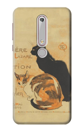 Printed Vintage Cat Poster Nokia 6 (2018) Case