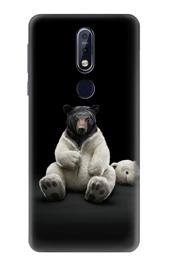 Printed Black Bear Nokia 7.1 Case