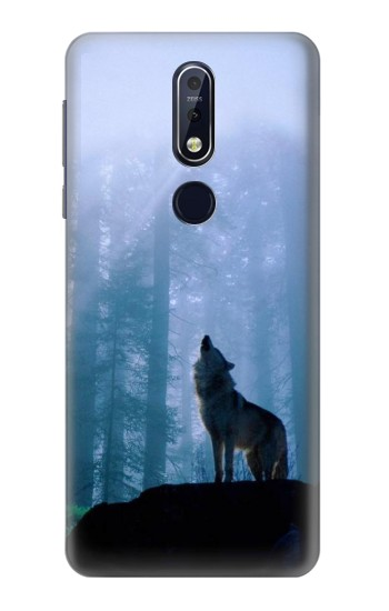 Printed Wolf Howling in Forest Nokia 7.1 Case