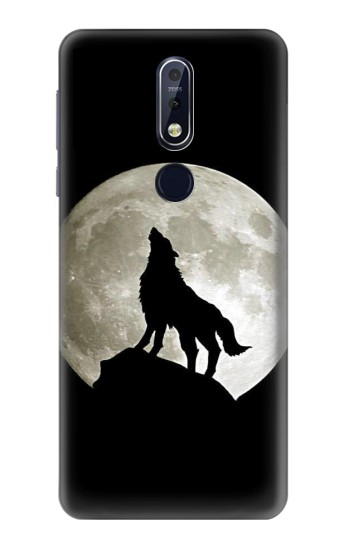 Printed Wolf Howling at The Moon Nokia 7.1 Case