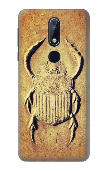 Printed Egyptian Scarab Beetle Graphic Printed Nokia 7.1 Case
