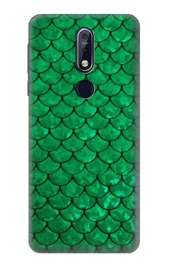 Printed Green Fish Scale Pattern Nokia 7.1 Case