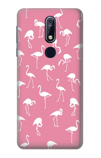 Printed Pink Flamingo Pattern Nokia 7.1 Case