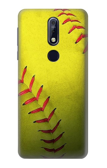 Printed Yellow Softball Ball Nokia 7.1 Case