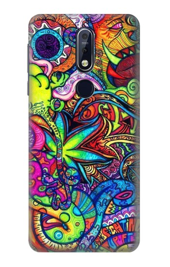 Printed Colorful Art Pattern Nokia 7.1 Case