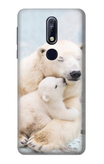 Printed Polar Bear Hug Family Nokia 7.1 Case