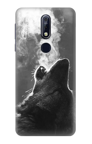 Printed Wolf Howling Nokia 7.1 Case