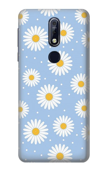 Printed Daisy Flowers Pattern Nokia 7.1 Case
