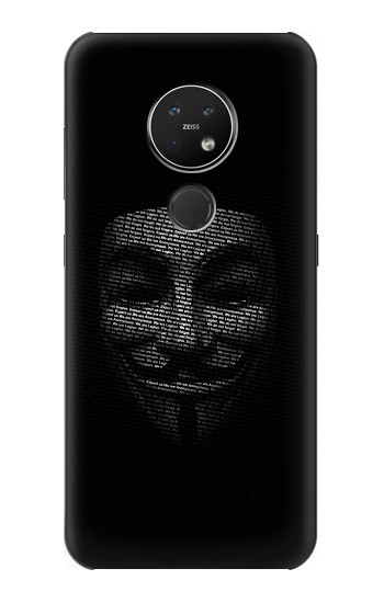 Printed Anonymous mask Nokia 7.2 Case