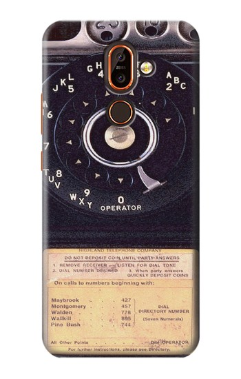 Printed Payphone Vintage Nokia 7 plus Case