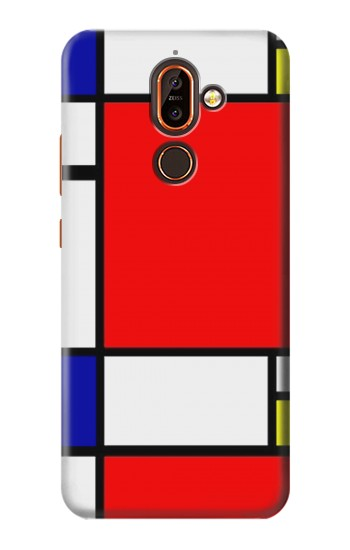 Printed Composition Red Blue Yellow Nokia 7 plus Case