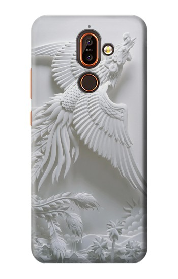 Printed Phoenix Carving Nokia 7 plus Case