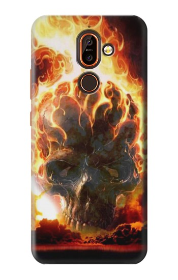 Printed Hell Fire Skull Nokia 7 plus Case