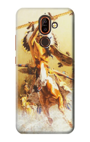 Printed Red Indian Warrior Nokia 7 plus Case