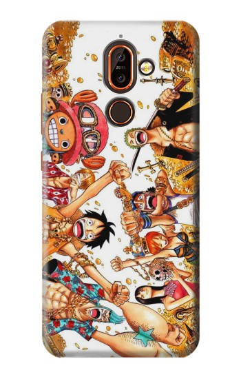 Printed One Piece Straw Hat Luffy Pirate Crew Nokia 7 plus Case