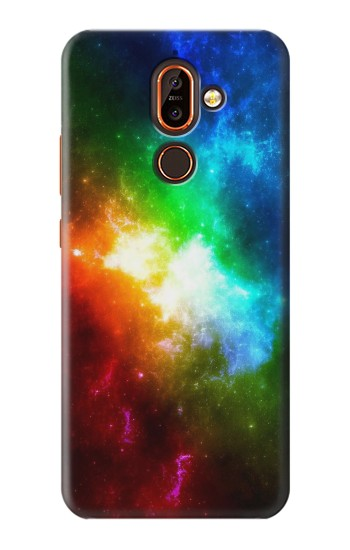 Printed Colorful Rainbow Space Galaxy Nokia 7 plus Case