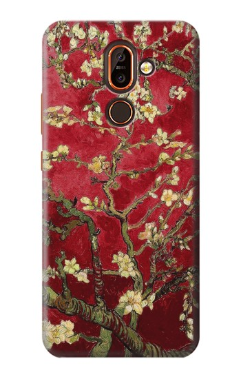 Printed Red Blossoming Almond Tree Van Gogh Nokia 7 plus Case