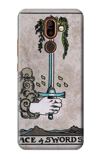 Printed Tarot Ace of Swords Nokia 7 plus Case