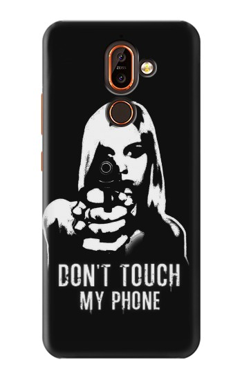 Printed Girl Do Not Touch My Phone Nokia 7 plus Case