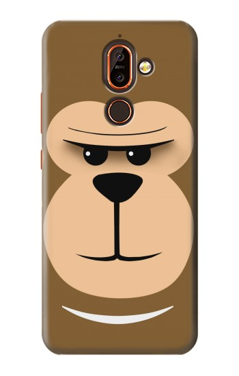 Printed Cute Monkey Cartoon Face Nokia 7 plus Case