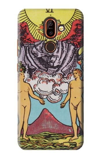 Printed Lovers Tarot Card Nokia 7 plus Case