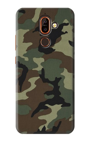 Printed Army Green Woodland Camo Nokia 7 plus Case