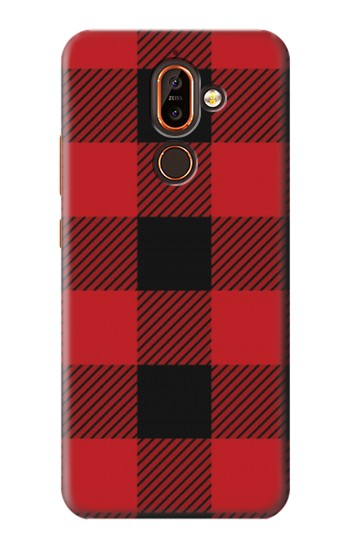 Printed Red Buffalo Check Pattern Nokia 7 plus Case