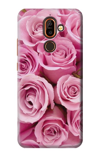 Printed Pink Rose Nokia 7 plus Case