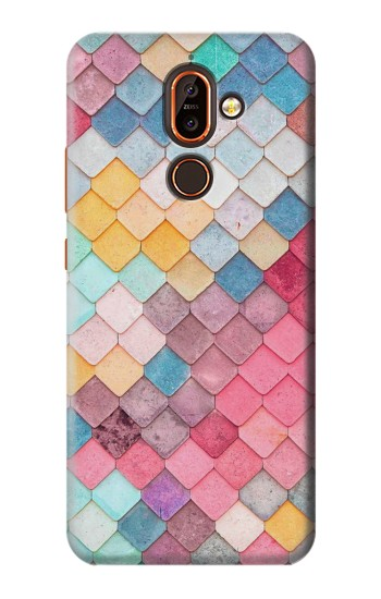 Printed Candy Minimal Pastel Colors Nokia 7 plus Case