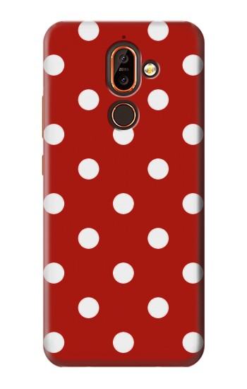 Printed Red Polka Dots Nokia 7 plus Case