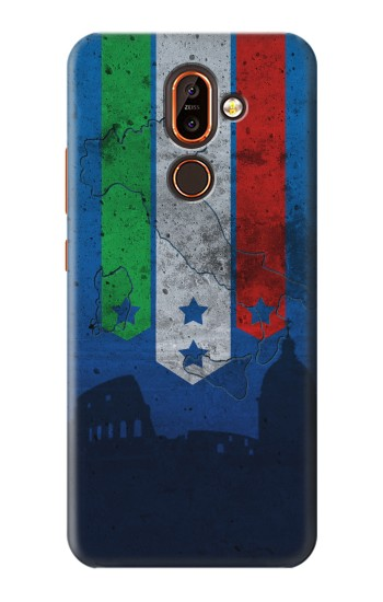 Printed Italy Football Flag Nokia 7 plus Case