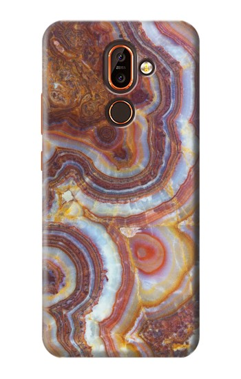 Printed Colored Marble Texture Printed Nokia 7 plus Case