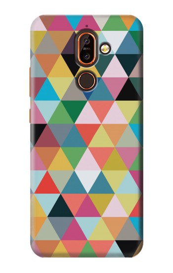 Printed Triangles Vibrant Colors Nokia 7 plus Case