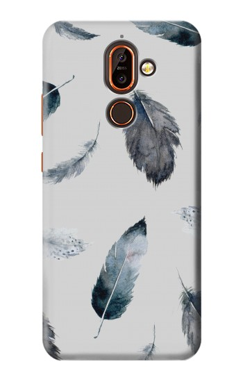 Printed Feather Paint Pattern Nokia 7 plus Case