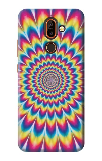 Printed Colorful Psychedelic Nokia 7 plus Case