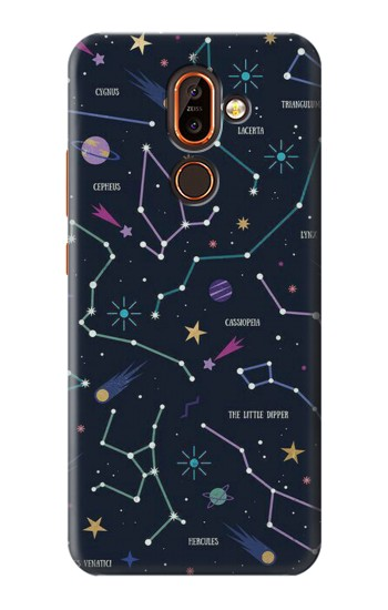 Printed Star Map Zodiac Constellations Nokia 7 plus Case
