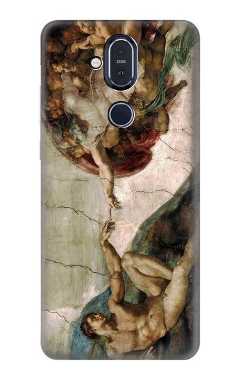 Printed Michelangelo The creation of Adam Nokia 8.1, Nokia X7 Case