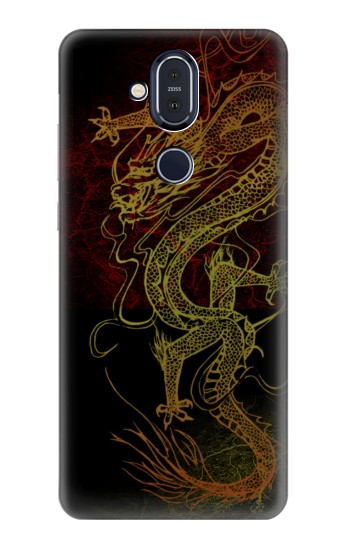 Printed Chinese Dragon Nokia 8.1, Nokia X7 Case